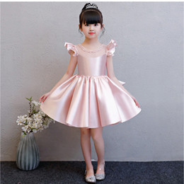 tea party dresses for kids UK - Girl in pink dress Party dress for kid girl Big girl dresses Opening season graduation tutu dress Piano performance