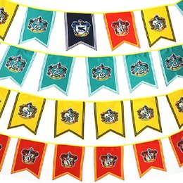 Discount cosplay flags - 12 Harry Potter Banners 2M Lenght Gryffindor Slytherin Hufflerpuff Ravenclaw College Flag Cosplay Flags Party Home Hangi