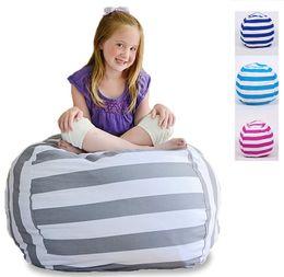 $enCountryForm.capitalKeyWord UK - 4 Colors 63cm Kids Storage Bean Bags Plush Toys Beanbag Chair Bedroom Stuffed Animal Room Mats Portable Clothes Storage Bag Canvas Organizer