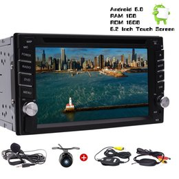 "Rearview Screen NZ - Wireless Rearview Camera Eincar Android Car Stereo Radio Double 2Din In Dash Headunit Quad Core 6.2""Touchscreen car DVD BT GPS USB"