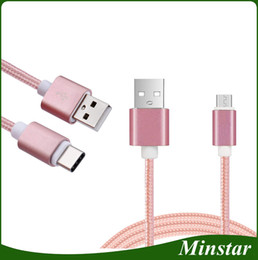 Phone Types NZ - 1M V8 Android Micro USB Cable Type C Cable Braided Nylon Tough Cloth Phone Fast Charging Pass 2A OD3.5 Data Transfer Cord Retail Package