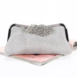 ladies head chain UK - Diamond-studded hand bags hand-made rhinestone The clutch Phoenix head The chain wedding bag high quality for bridal and lady wear
