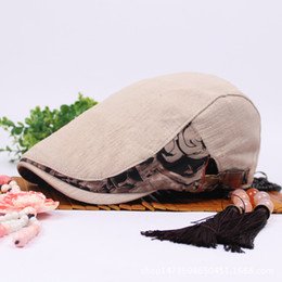 Discount beret breathable - Summer Cotton Linen Women Flat Caps Retro Casual Newsboy Hat Breathable Breat Caps For Women