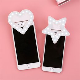 Bulb Case Australia - Usb LED Light Selfie Ring Light Phone Cases For iPhone 6 6S Plus Fashion Star Heart Light Flash Luminous For iPhone 7 Plus Q0549