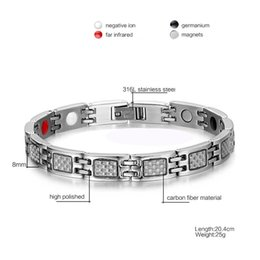 $enCountryForm.capitalKeyWord Australia - Mixed order men's stainless steel magnet carbon fiber bracelet magnetic stone bracelets fashion jewelry factory supplier seller 026