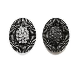 $enCountryForm.capitalKeyWord UK - 10Pcs Crystal Rhinestone Big Snap Black Oval 18mm Metal Snap Button For Bracelet Watches Women Female DIY Jewelry
