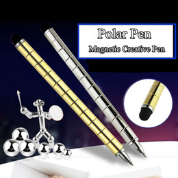 Magnetic Fidget Pen Australia - Polar Pen Modular Magnetic Magic Fidget Pen DIY for Fidgeter As Antistress Cube Tool Toy Writting On Paper& iPad Stress Wheel