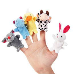 puppets UK - 10PCS Pack Cute Cartoon Finger Animal Educational Baby Kids Stoy Toys Gifts Finger Puppets Cloth Plush