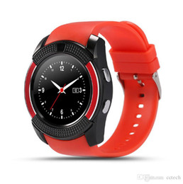 $enCountryForm.capitalKeyWord Australia - V8 BLE Smart Watch 1.22in IPS Round Screen Support SIM TF Card Camera SmartWatch for Samsung Huawei Android Smartphone with Retail Box