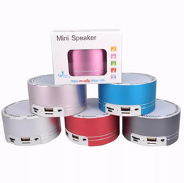 Discount mini mp3 player case - Bluetooth Mini Speaker with Aluminum Alloy Case Wireless Portable Soundbox Support USB TF MP3 Music Player FM Radio Hand