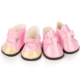 Shoes For American Girl Dolls Australia - Shoes for Doll Leather Shoes For 18 Inch American Girl Doll Accessory Girl's Toy Gift Brinquedos Baby Born Accessories