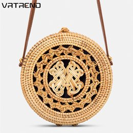 round hand bag 2019 - VRTREND Hot Sale Vietnam Hand Woven Bag Round Rattan Straw Bags For Women Handbags Bohemia Style Beach Circle Bag discou