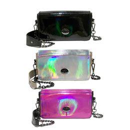 Coach Handbags Canada - Hologram Laser Women Chain Messenger Bag Holographic PU Leather Crossbody Shoulder Handbag bolsos mujer