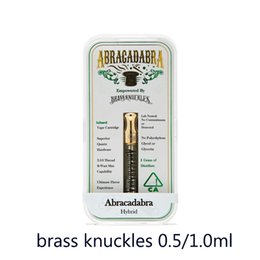 $enCountryForm.capitalKeyWord Canada - 2018 ABRAGADABRA Brass Knuckles Cartridges Atomizers Dual Cotton Coil 0.5ml 1.0ml Gold Mouthpiece with Acrylic Box 0266215-1