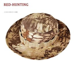 Camouflage boonie hats online shopping - New Tactical Camouflage Boonie Hats Army Cadet Cap Summer Outdoor Camping Hiking man s Round Fishing Huing Hat