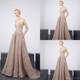 08b09b6d4fd71 2019 Tony Ward Evening Dresses Jewel Neck Bling Sequins Sheer Jewel Neck  Long Sleeve Prom Dress Party Wear Custom Made Illusion Formal Gowns
