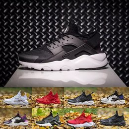 Wholesale With Box Online High Quality huarache IV running Shoes For Men Women Black white red yellow Grey Sneakers Huaraches Jogging Sports Sh