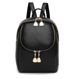 $enCountryForm.capitalKeyWord Canada - Women's Backpack Fashion Black Cute Mini Bag Student Chain Bag With Pocket Wholesale Cheap Bag Free Shipping