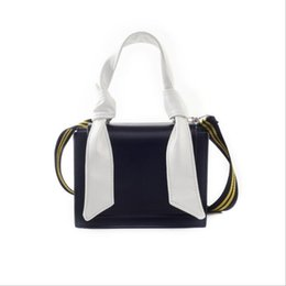 white shoulder bags UK - New women's bag Korean version of the wild hit color small square bag tide wide shoulder strap Messenger bag