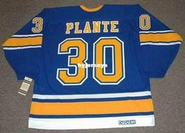 $enCountryForm.capitalKeyWord Australia - custom Mens JACQUES PLANTE St. Louis Blues 1968 CCM Vintage Cheap Retro Hockey Jersey