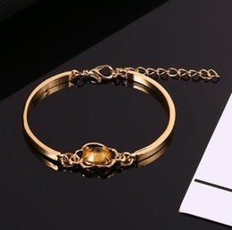 artificial chains wholesalers NZ - Gem Fashion Wristband Floral Women Bangle Chain Bracelet Artificial