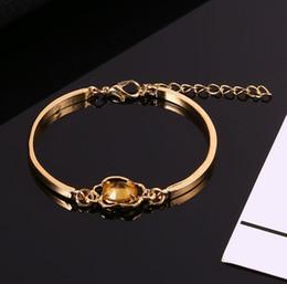 Artificial Chains Wholesalers Australia - Gem Fashion Wristband Floral Women Bangle Chain Bracelet Artificial
