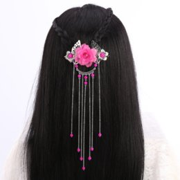 Wholesale Classical Flowers Chinese Style Hair Jewelry Ancient Chinese Han Dynasty Cosplay Head Decor
