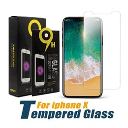 iphone screen glass kit Australia - 2mm 9H tempered glass For iphone XS Max XR 8 6s 7 plus screen protector protective guard film case cover+clean kits