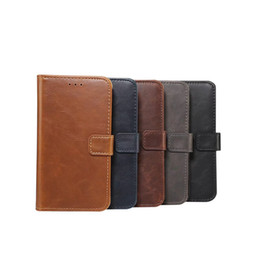 Horse credit card wallet online shopping - Vintage Retro Leather Wallet For Huawei P20 Lite Pro For Sony XZ2 Compact Magnetic Crazy Horse Stand Credit Card Flip Cover Pouch Skin