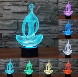lamp training 2018 - 2018 3D Novelty Bulbing nightlight For Train meditation Sit quietly DecorativeTable Night Birthdays Christmas Sleep Ligh