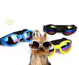 Chinese  Dog Glasses Fashion Foldable Sunglasses Medium Large Dog Glasses Big Pet Waterproof Eyewear Protection Goggles UV Sunglasses wn530C manufacturers