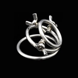 $enCountryForm.capitalKeyWord Australia - stainless steel three-ring penis scrotum cock ring bondage gear with screw adjustment cbt adult sex toys for men XCXA216