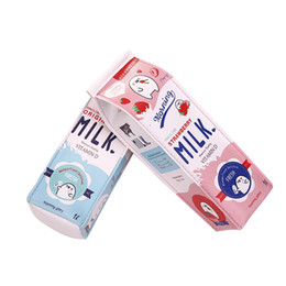 Pens milking online shopping - Cute Korea Kawaii Pencil Case School Pencil Case for Girls Boys Leather Milk Pen Box Pencilcase Stationery Bag School Supplies