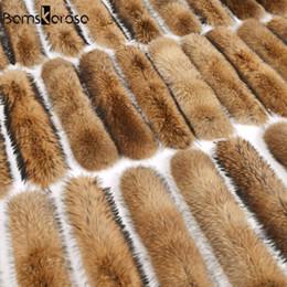 $enCountryForm.capitalKeyWord Australia - 100% Natural Jacket Fur Collar Real Fur Scarf Women Winter Coat Female Warm Shawl Thick Raccoon Fur Collar Scarves Neck Warmer Y18102010