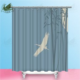 "dragonfly hooks NZ - Vixm Home Ink Bamboo Painting Fabric Shower Curtain Bamboo And Dragonfly Bath Curtain For Bathroom With Hook Rings 72"" X 72"""