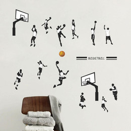 $enCountryForm.capitalKeyWord NZ - Hot sale New Basketball Player Wall Stickers Removeable DIY Decal Nursery wallpaper for Boys Room Living Bedroom Home Décor