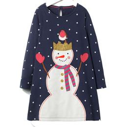 Full Clothes UK - Baby Girls Dresses 100% Cotton 2018 Brand Autumn Children Dress Kids Clothes Christmas Clothing for Children Dress Clothing