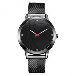 unique belts 2019 - Luxury Watch Leisure Business Watches Man Clock Basketball Pattern Dial Mesh Belt Wrist Watches Unique Watch Montre Homm