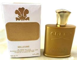 2018 achat chaud nouveau parfum Creed or bouteille haut de gamme pour hommes 120ml, parfum de longue durée, achat sans prix usine en Solde