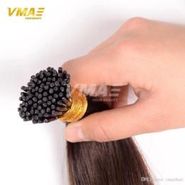 Stranded Hair Wholesale Australia - Most Popular Probonded I Tip Human Hair Brazilian Straight I Tip Stick Tip Keratin 100% Human Hair Extensions 1.0g strands 100g