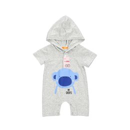 143b51379 Summer Newborn Infant Baby Boy Girls Bear Romper Short Sleeve Cute Bear  Hooded Jumpsuit Sunsuit Outfits Toddler Kids Clothes