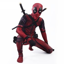 Chinese  High Quality Marvel Halloween Cosplay Deadpool Costume Adult Men Marvel Legends Mask Costume Suit Deadpool Cosplay manufacturers