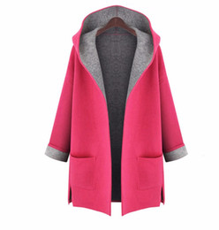 Wholesale Autumn Woman Loose Casual Coat Pocket Open Stitch Long Trench Pockets Solid Long Sleeve Plus Size Trench Coat