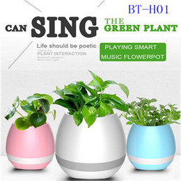 $enCountryForm.capitalKeyWord Australia - music plant decompress pot speaker bluetooth flower pot speaker touch play piano tone with soft night light as gift for X-mas promotion