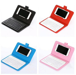bluetooth keyboard for android phone NZ - 2018 Bluetooth Keyboard Case Cover for iPhone Android Phone Ultra Thin Wireless Keyboard Leather Case universal mobile phone