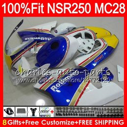 blue rothmans honda fairings NZ - Injection For HONDA NSR250R MC28 PGM4 94 95 96 97 98 99 79HM52 NSR 250R NSR 250 NSR250 R Rothmans Blue 1994 1995 1996 1997 1998 1999 Fairing