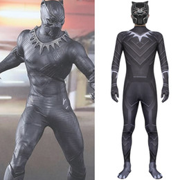 Civil War Costumes Halloween Australia - Captain America 3 Civil War Black Panther Cosplay Costume for Halloween Party
