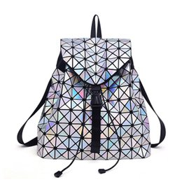 $enCountryForm.capitalKeyWord Australia - New Bao Backpacks Women Geometric Shoulder Bag Student's School Bag Hologram Luminous backpack Laser silver backpack mochilas Y18110201
