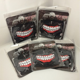 slipknot face masks 2020 - Wholesale 5 Pieces Suspend Artificial Tokyo Ghoul Mask Slipknot Mascara Party Tokio Ghoul Masks No Zipper Half-face Masq