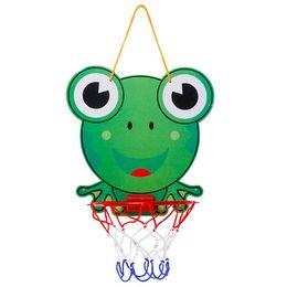Car Ball Games UK - Indoor Adjustable Hanging Basketball Netball Hoop Portable Plastic Mini Basketball Box with Ball Children Kids Game